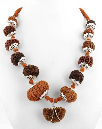 Buy Barishh Handmade And Genuine 1 -14 Mukhi Rudraksha Mala - Br-4705 online