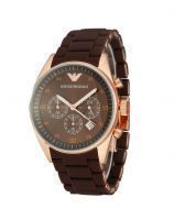 Buy Imported Emporio Armani Brown Dial/Strap Sportivo Chrono Mens Watch online
