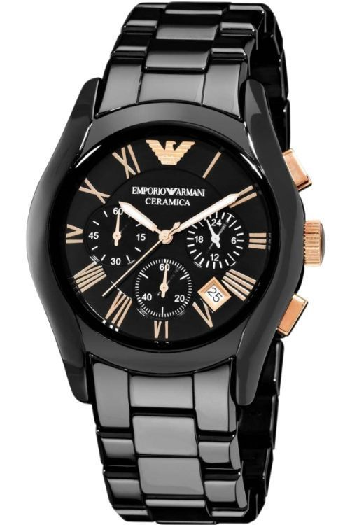 Buy Imported Emporio Armani Gents Ceramic Black Chronograph Watch online
