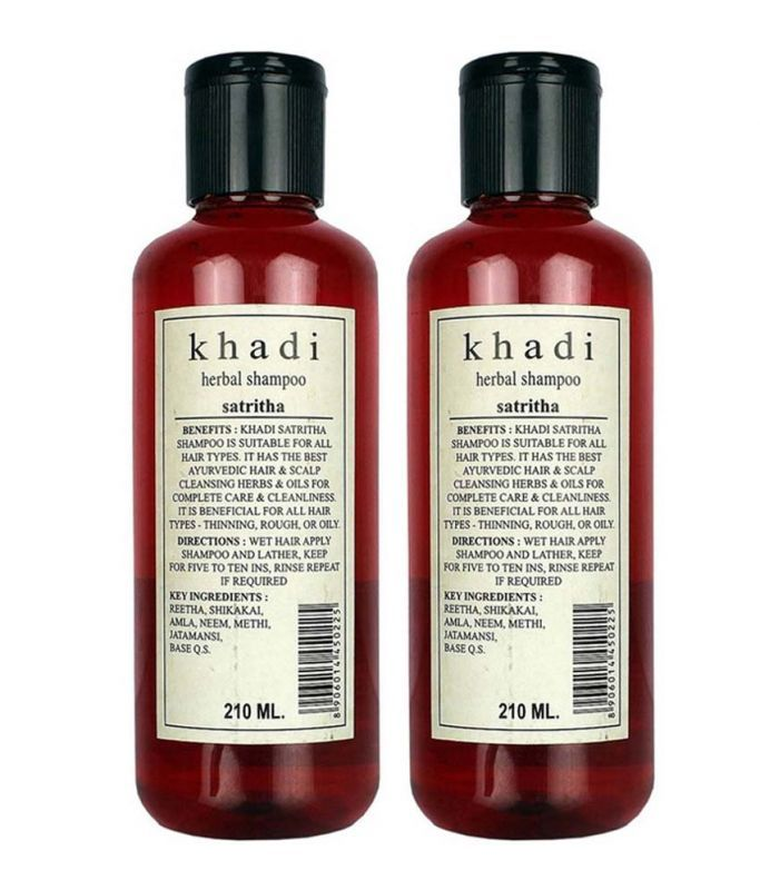 Buy Khadi Herbal Satritha Shampoo (twin Pack) 210ml Each online