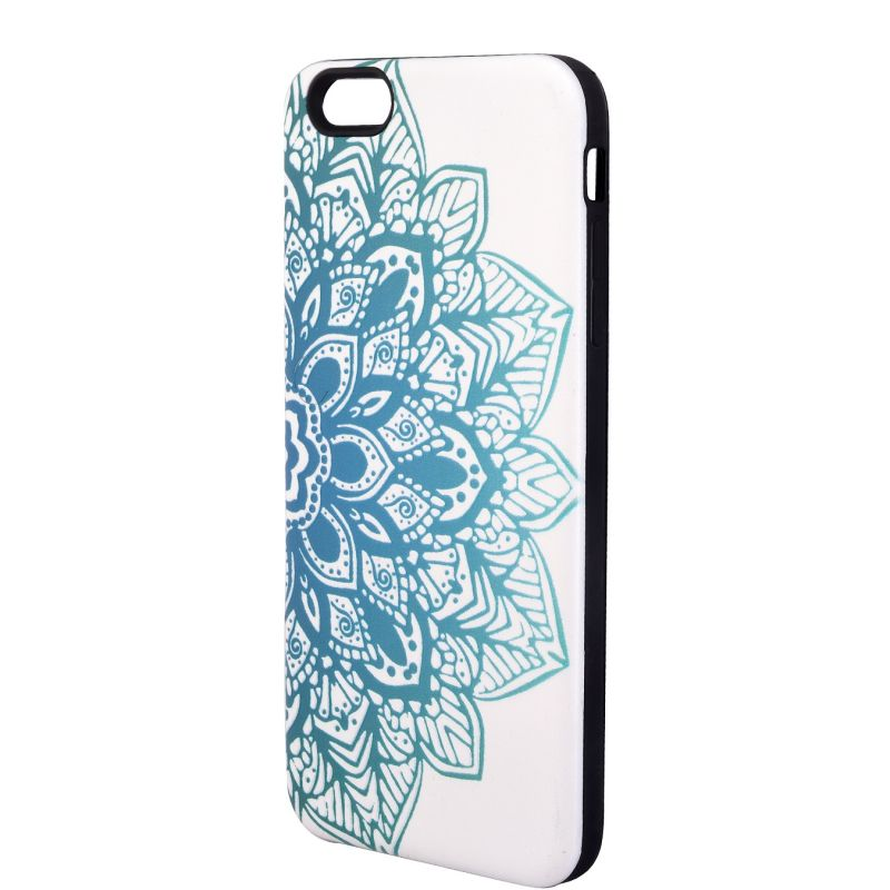Buy Xcelmobi New Fashion White And Blue Lotus Print Back Cover For Apple iPhone 6 Plus online