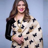 Buy Morpich Fashion Bollywood Replica Designer Printed Silk Saree (code - Priya Titli) online