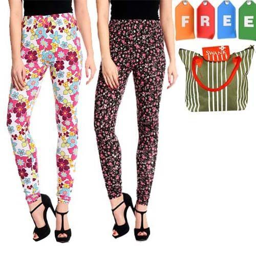 Buy Set Of 2 Colorful Leggings With Free Shopping Bag online