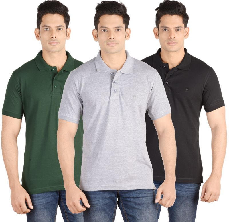 Buy Fab 69 Combo Of 3 Men's Polo T-shirt online