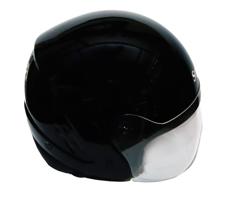 Buy Amba Smile Glossy Black Open Face Bike Helmet(isi Approved) online