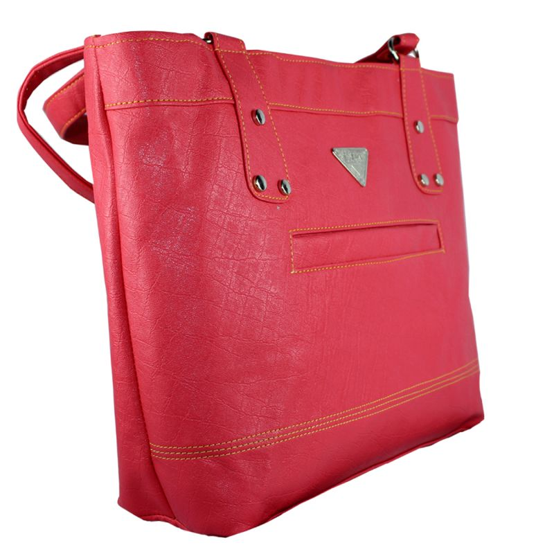 Buy Spero Women's Stylish Zip Lock Casual Red Handbag online