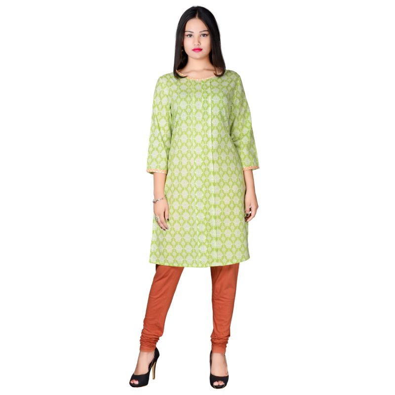 Buy Miss Perfect Pink Colour Designer Cotton Kurti online