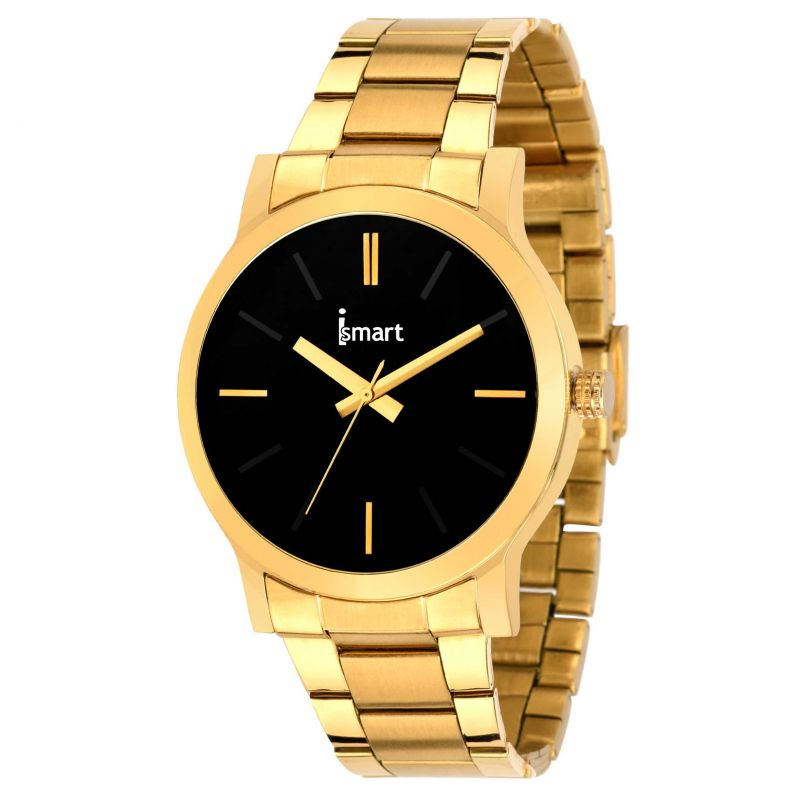 Buy Ismart Mens & Boys Golden Analog Wrist Watch's online