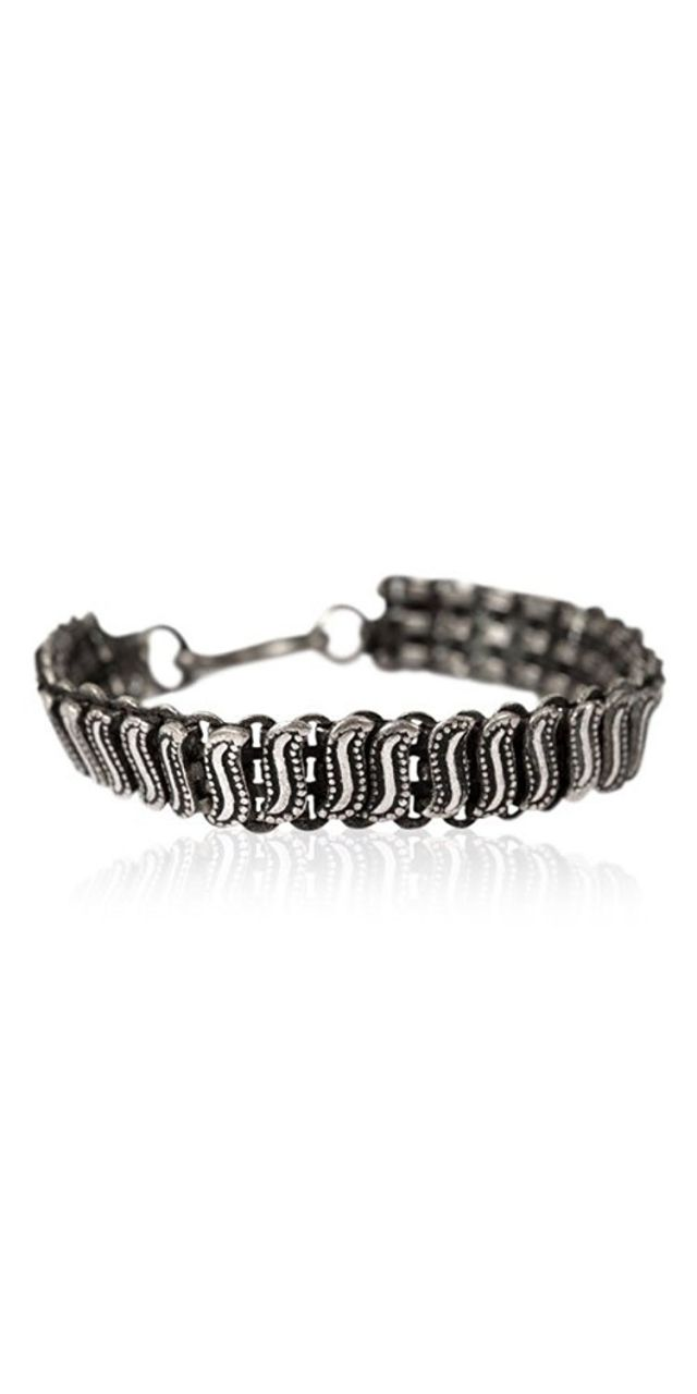 Buy Bracelet Base Metal Silver Oxidized online