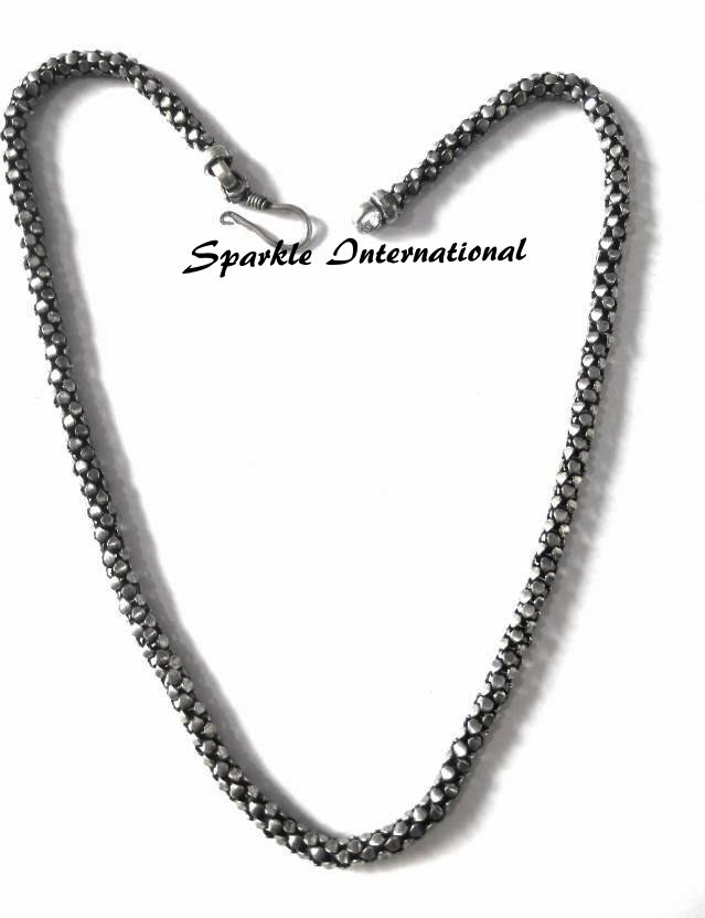 Buy Sparkle Oxidized Plated Imitation Chain For Girls online