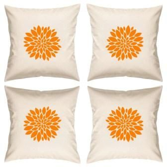 Buy Digital Print Canvas Cushion Cover 16 Inches Set of 4 By Admire Home online