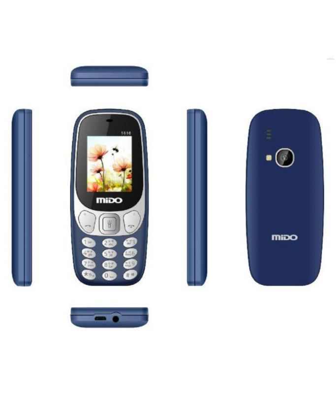 Buy Mido 1616 Dual Sim Multimedia Phone With 1000 mAh Battery,auto Call Recorder Bluetooth And FM Radio online
