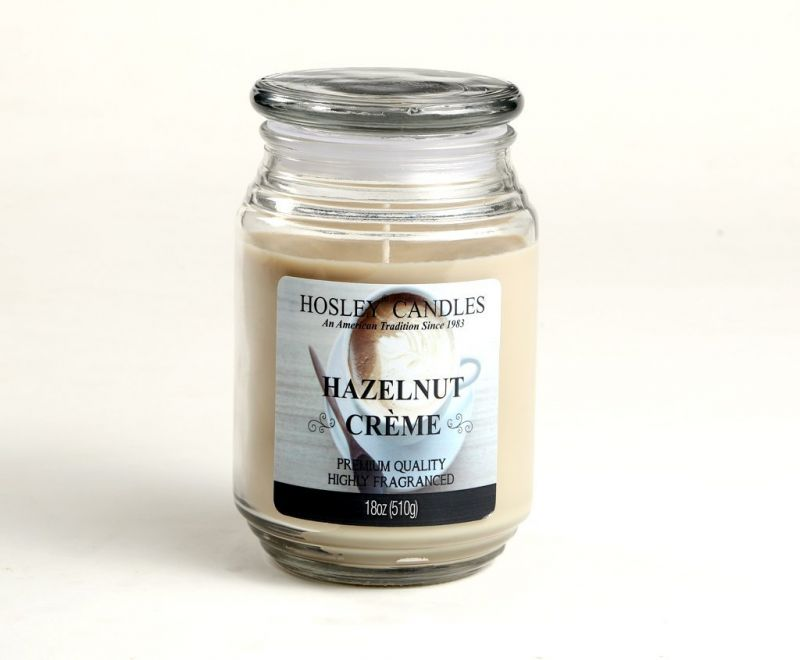Buy Hosley Hazelnut Cr Me Highly Fragrance 18 Oz Wax Large Jar Candle online