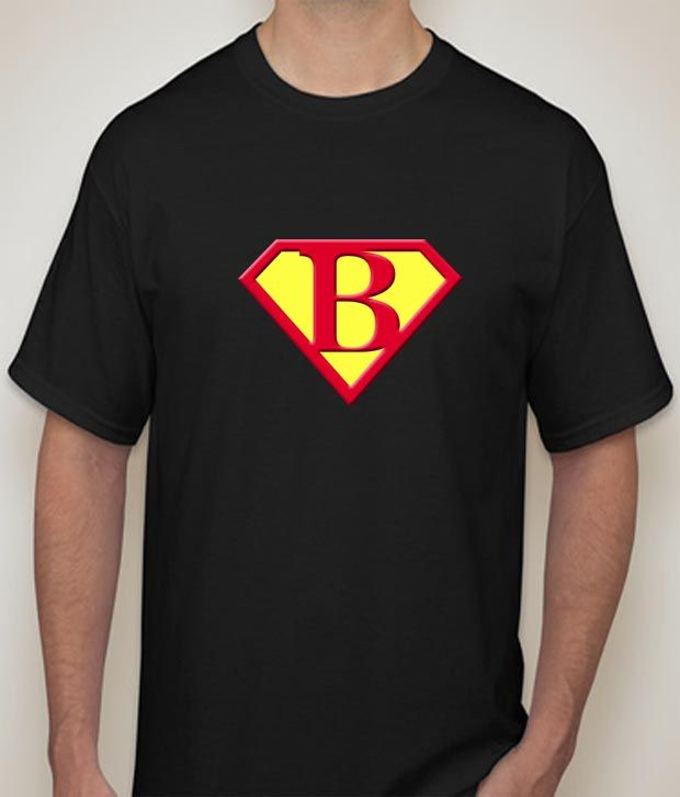 Buy Superman - B Black  T-shirt for Men online