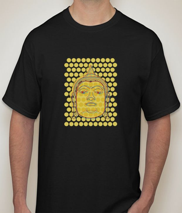 Buy Buddha Black  T-shirt for Men online