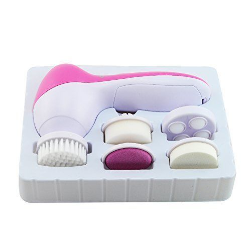 Buy Chericare Portable Anti-aging 5 In 1 Electric Facial Brush Face Spa Skin Care Brush Massager Scrubber-deeply Cleaning Skin-exfoliating Dead Skin Cells online