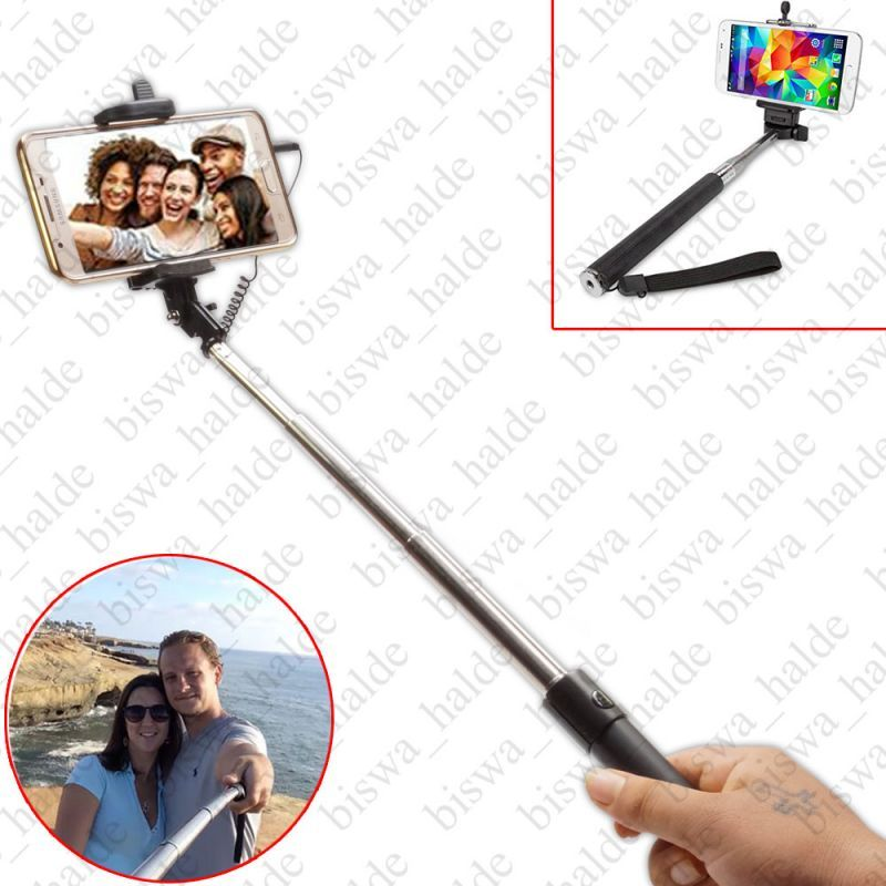Buy Pocket Selfie Stick Extendable With Aux Cable For Samsung & Android Mobile Phone online