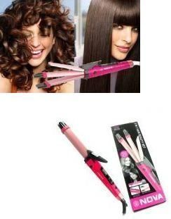 Buy Nova 2-in-1 Hair Curler And Straightener 100% Shock Proof Hair Straightener online