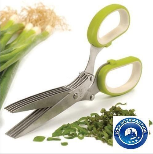 Buy Multifunction 5 Blades Scissors-vegetable Chopper-paper Shredder online