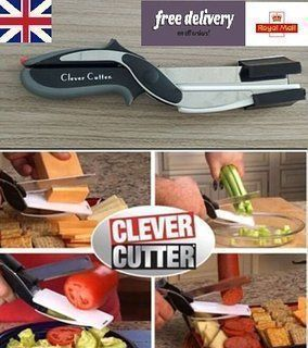 Buy Clever Cutter 2-in-1 Knife & Cutting Board Scissors As Seen On TV online
