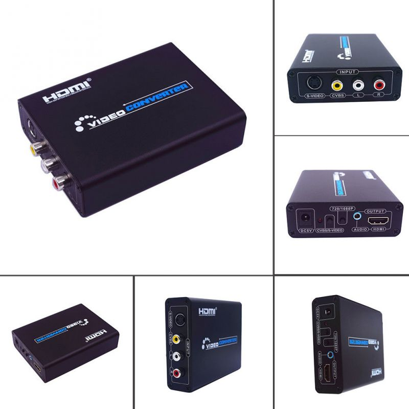 Buy 720p AV S-video To Hdmi Component HD HDTV Video Audio Converter Adapter online
