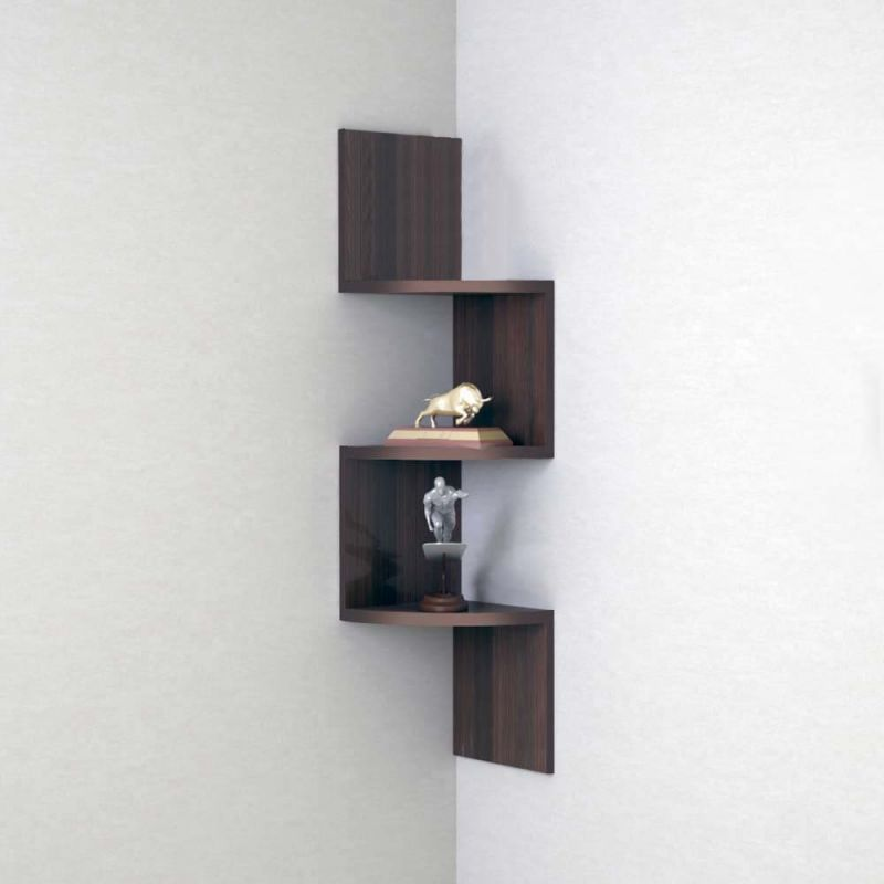 Buy Woodworld Home Deco Wall Shelf Zig Zig Rack Unit - Brown online