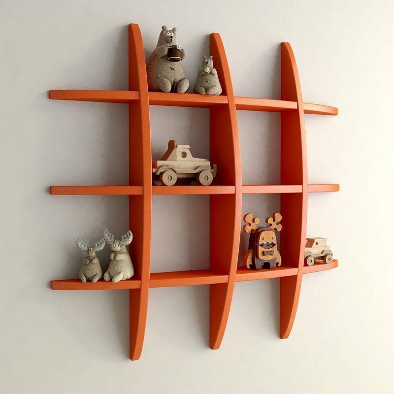 Woodworld Home Decor Globe Shape Orange Wall Shelves Rack Online