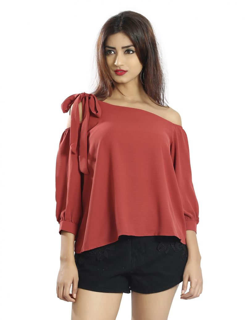 Buy Snob Bee Maroon The One Tie Up Top online