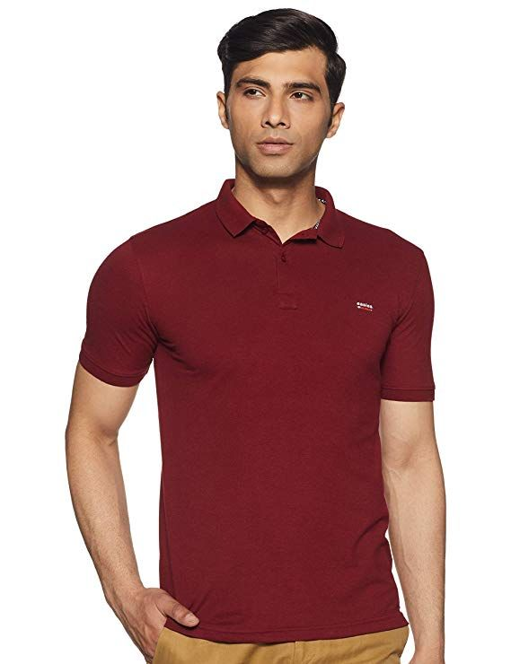 Buy Ajeraa Men's Polo Collar T-shirt ( Code - Polo_tshirts ) online