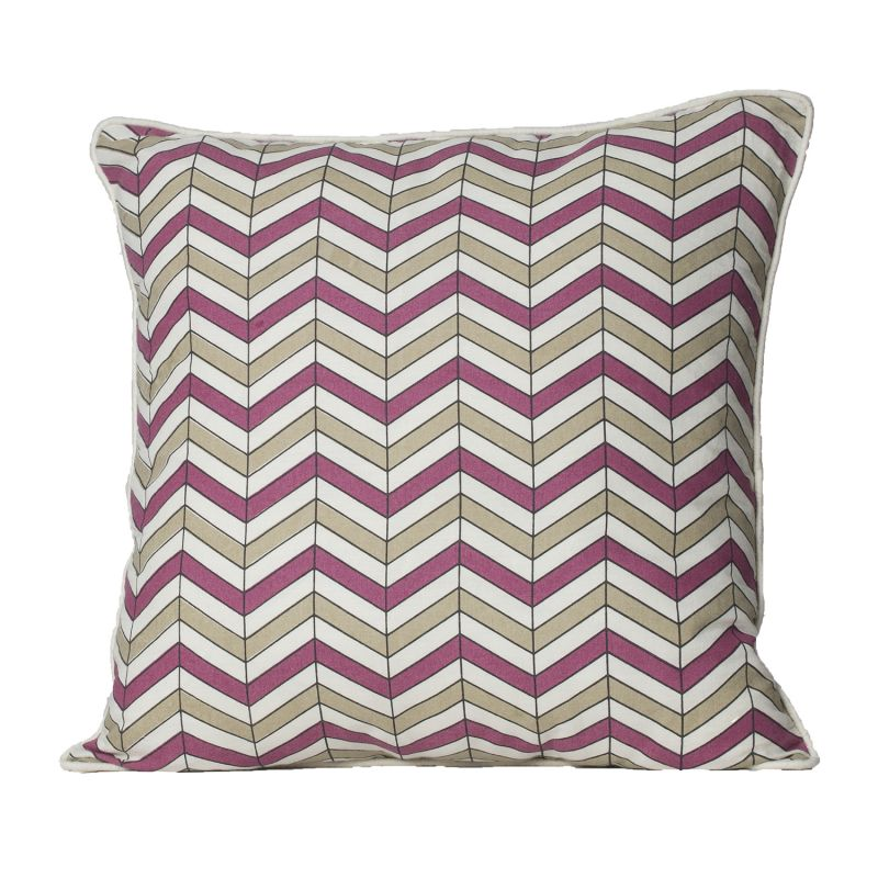 Buy Monogram Multicolour Square Cotton Cushion Cover Hand Print-5 Pcs Set -Multicolour online