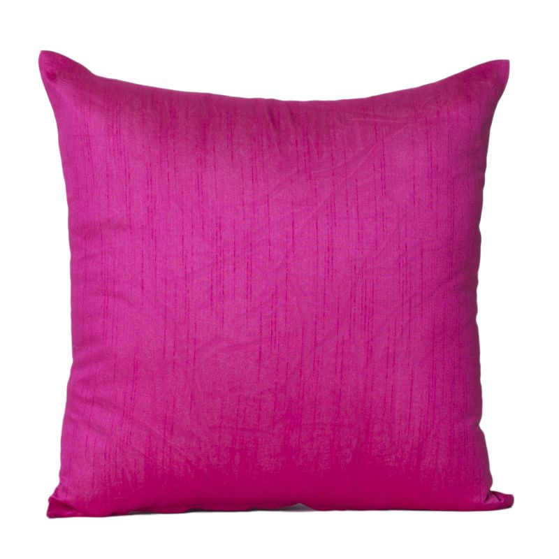 Buy Monogram Dark Pink Square Polyester Cushion Cover Solid Colour-5 Pcs SetDark Pink online