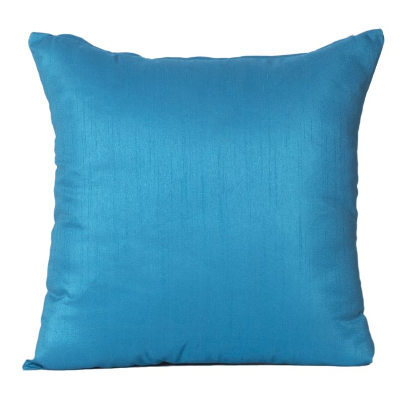 Buy Monogram Turquoise Square Polyester Cushion Cover Solid Colour-5 Pcs SetTurquoise online