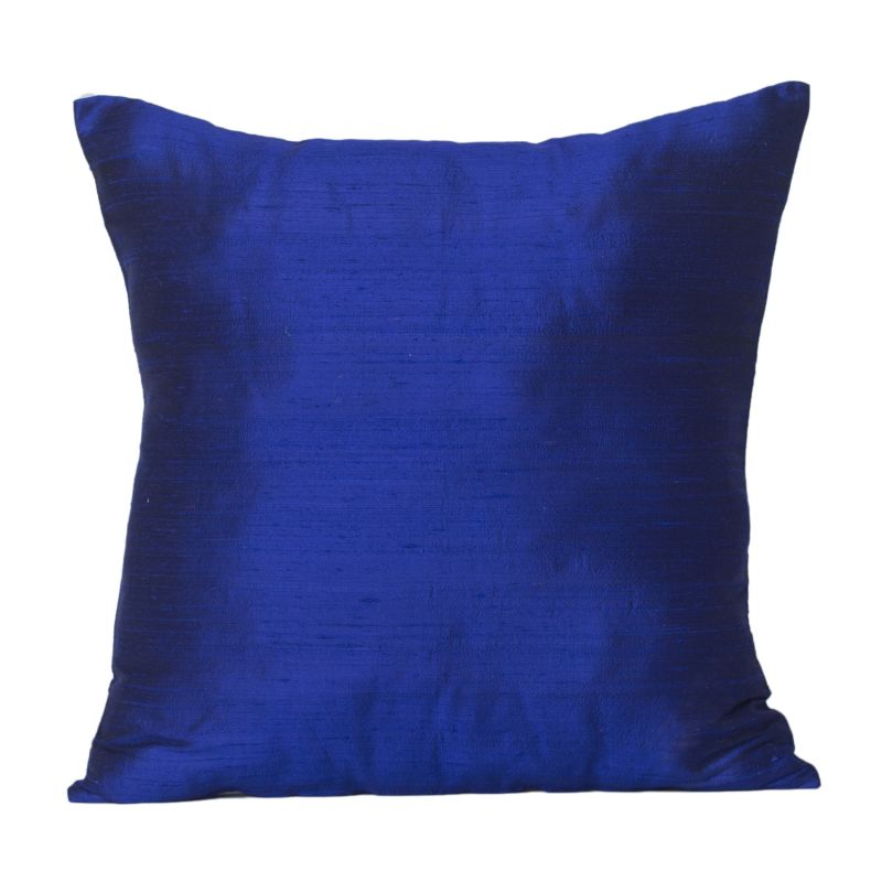 Buy Monogram Navy Blue Square Polyester Cushion Cover Solid Colour-5 Pcs SetNavy Blue online