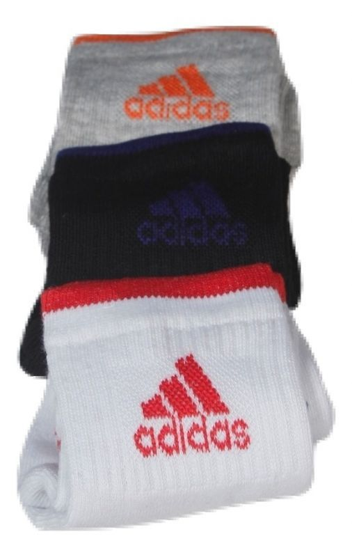 Buy Multi Colour Branded 3 Pair Adidas Logo Socks online