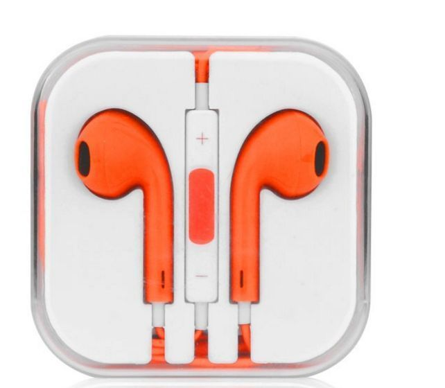 Buy Apple iPhone Handsfree With Remote And Mic (orange) online