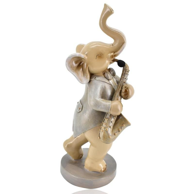 Buy Musical Elephant Polyresin Home Decoration Show Piece online