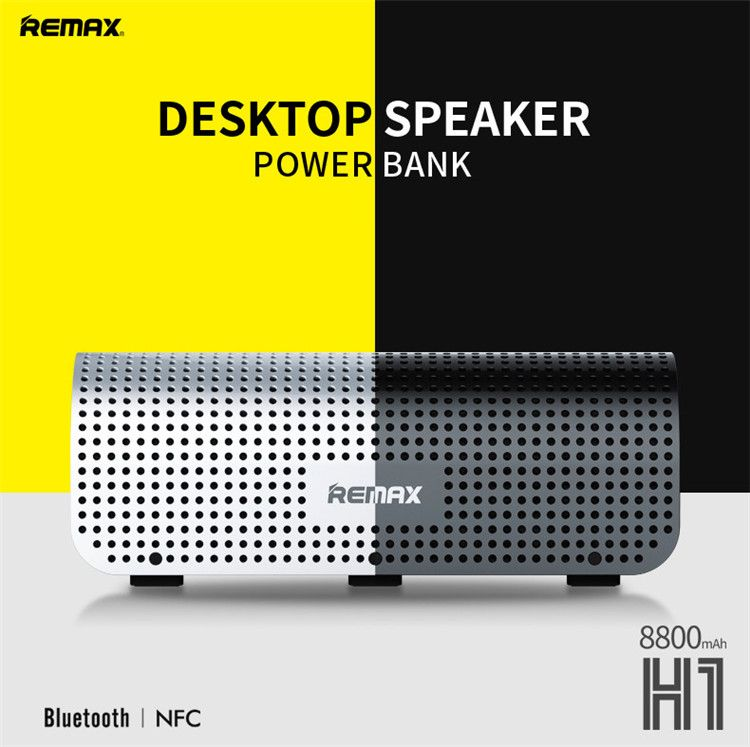 Buy Remax Buetooth Desktop Speaker(2.1) With Power Bank (8800mah) H1 - Silver online