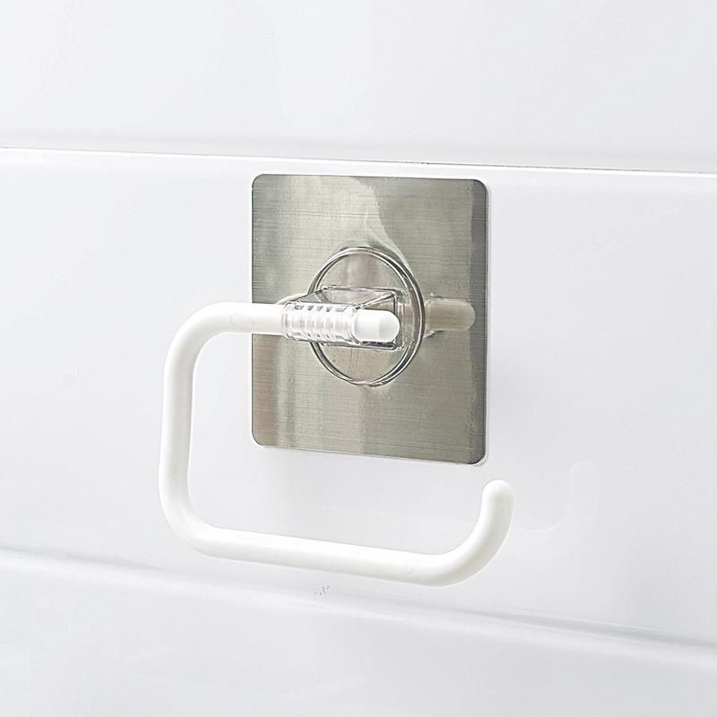 Buy Magic Flexible Sticker Towel Rack & Roll Paper Holder online