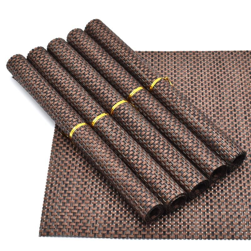 Buy Dining Table Placemat (set Of 6) 30x45cm - Brown online