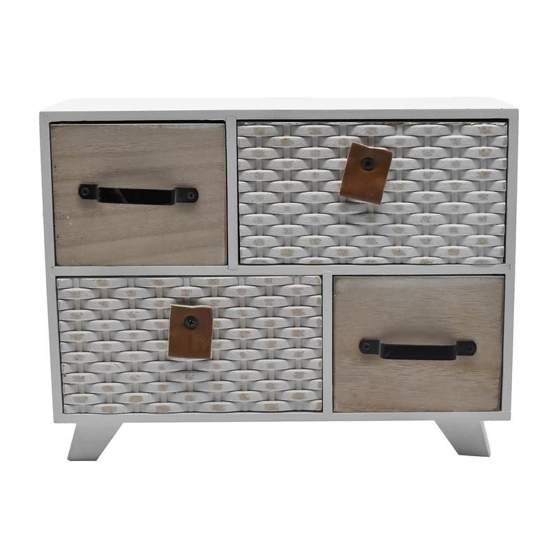 Buy Mini Cabinet With Multi 4 Drawer For Storage -white/cream online