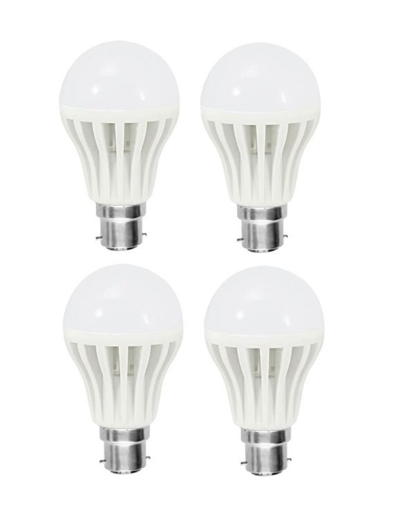 Buy Shoppingekart Plastic Round Shaped White 7 Watt Super LED Bulb Pack of 4 online