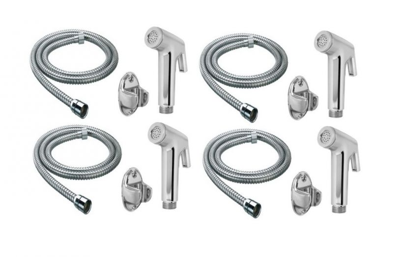 Buy Shoppingekart Continental Health Faucet With 1 Meter S.S Tube And Wall Hook (Pack of 4) online
