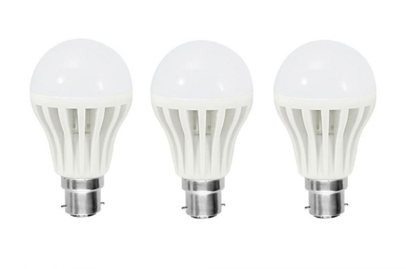 Buy Shoppingekart Plastic Round Shaped White 3 Watt Super LED Bulb Pack of 3 online