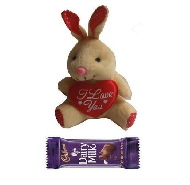 Buy Indigo Creatives Love Gift Teddy Bear With Cadbury Chocolate online