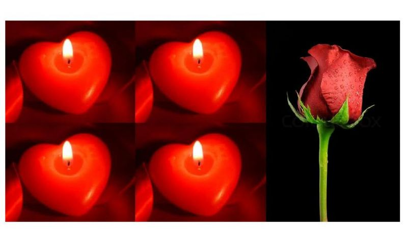 Buy Indigo Creatives Gift Red Love Pasion Heart Candle Set With Red Rose online