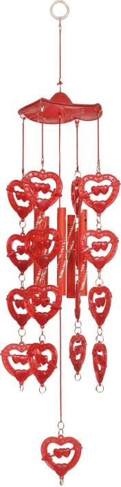 Buy Indigo Creatives Love Red Fengshui Plastic Wind Chime 14 Inch online