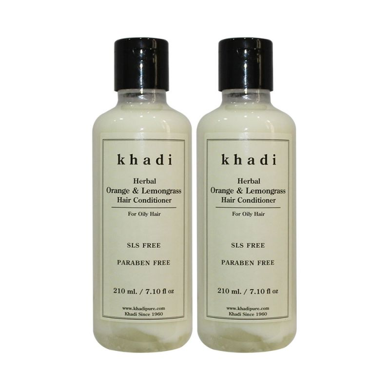 Buy Khadi Herbal Orange & Lemongrass Hair Conditioner Sls-paraben Free - 210ml (set Of 2) online