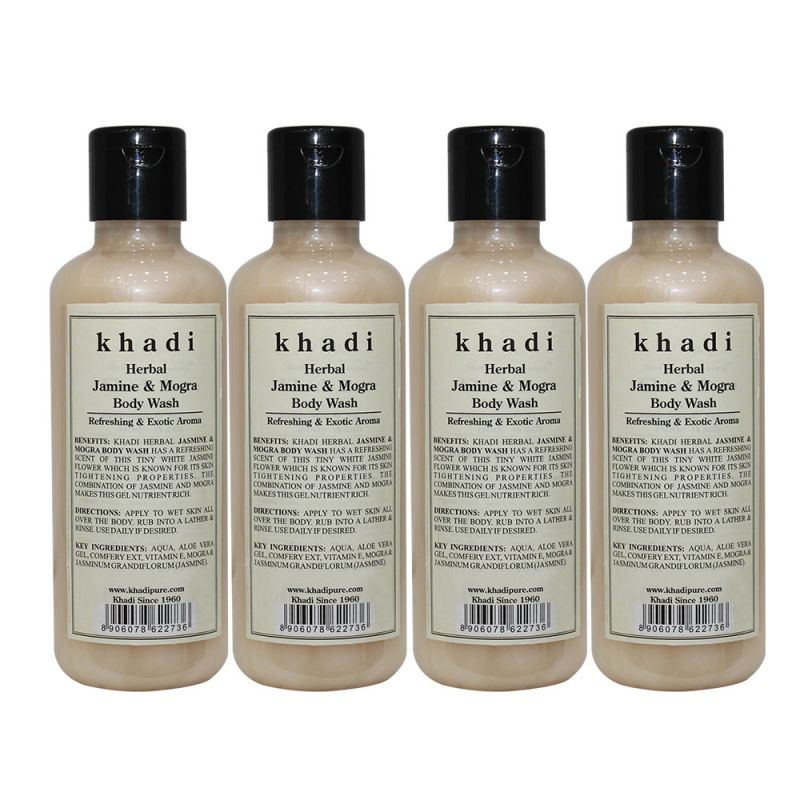 Buy Khadi Herbal Jasmine & Mogra Body Wash - 210ml (set Of 4) online