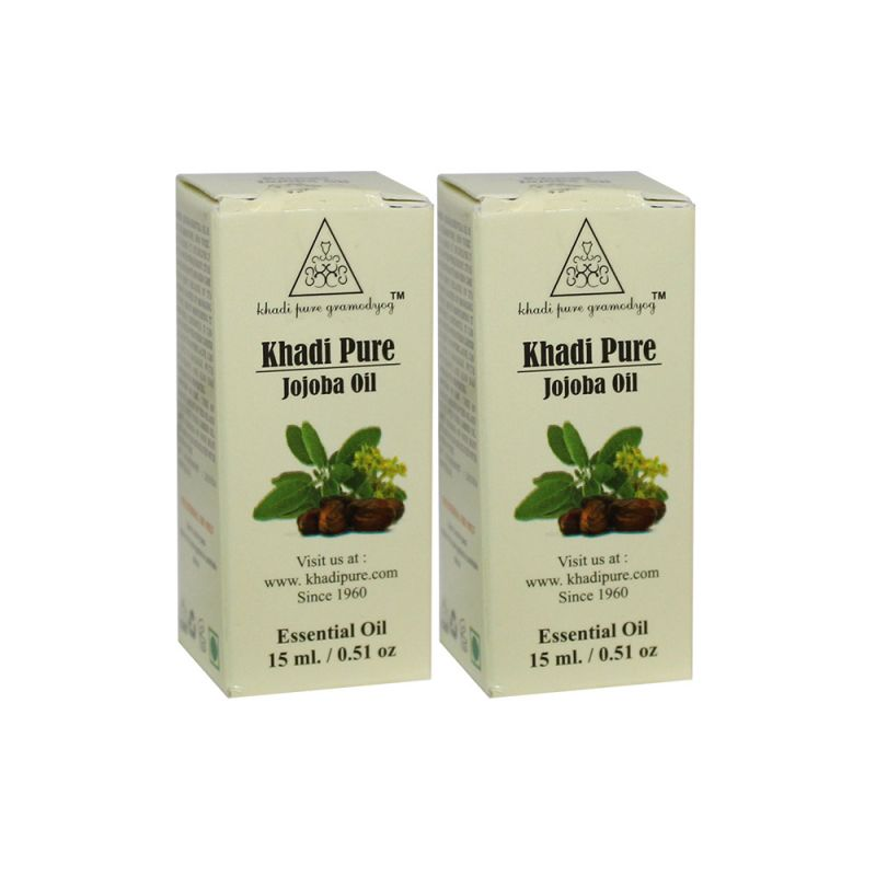 Buy Khadi Pure Herbal Jojoba Essential Oil - 15ml (set Of 2) online