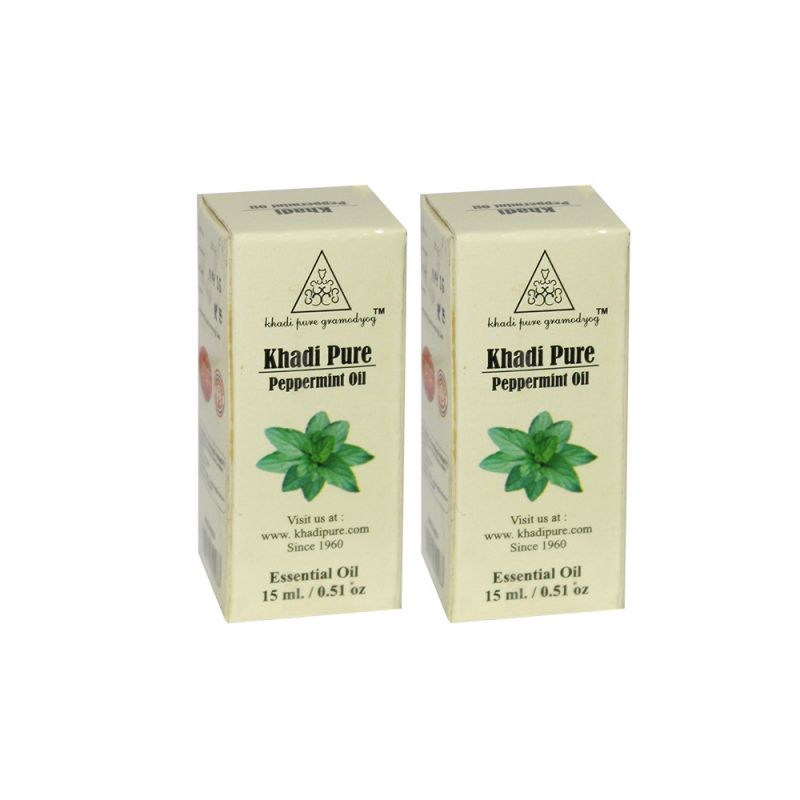 Buy Khadi Pure Herbal Peppermint Essential Oil - 15ml (set Of 2) online